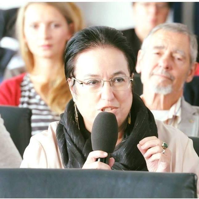 Panagiota Zahariadou-Boventer. Kandidatin im Mittelrhein-Team der SPD für die Europa-Wahl am 26. Mai 2019.